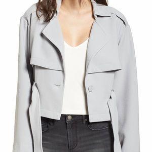 Keith cropped blazer belted jacket sz lg NWT